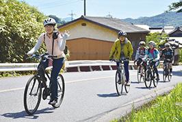 自転車なら軽い登り坂でも楽に進める