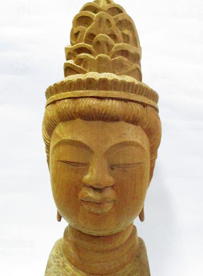 昭和59年に制作した観音仏頭