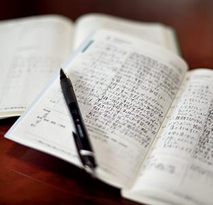 始めた頃は、空白が目立った『日時計日記』だが、今は、日々の喜び、感動で埋まるようになった