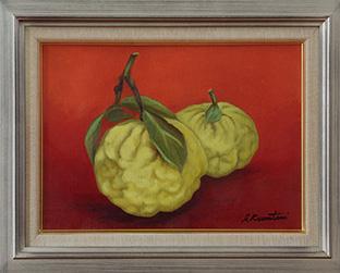 「絵の先生は花や植物を描くのに秀でた方で、習い始めた頃は具象画をメインに描いていました」
