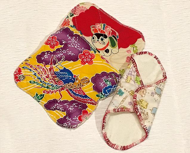 松井さんが手作りした布ライナー
