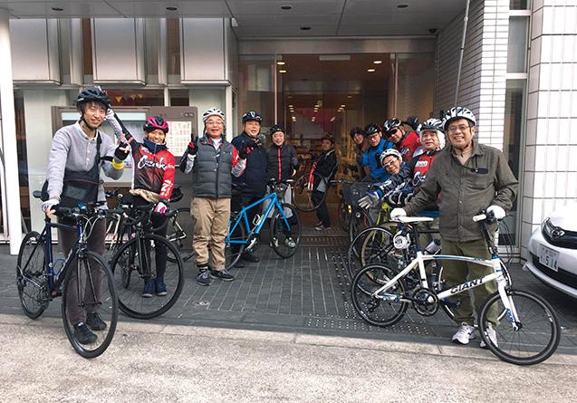 SNI自転車部のミニイベントの参加者らと