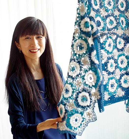 下園佳子(しもぞのよしこ)さん│44歳│東京都豊島区取材/久門遥香(本誌) 写真/堀隆弘 「将来的には、編み物教室で教えたりもしてみたいので、そのためにも、もっと腕を磨きたいです」