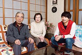 両親と自宅で