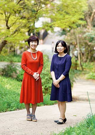 水島さんと、東京・赤坂にある「生長の家 赤坂 いのちの樹林」で