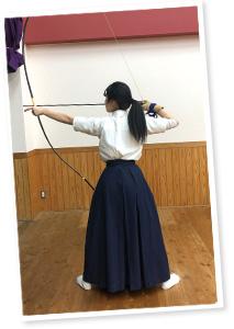高校では弓道部で活躍(写真提供:木村さん)
