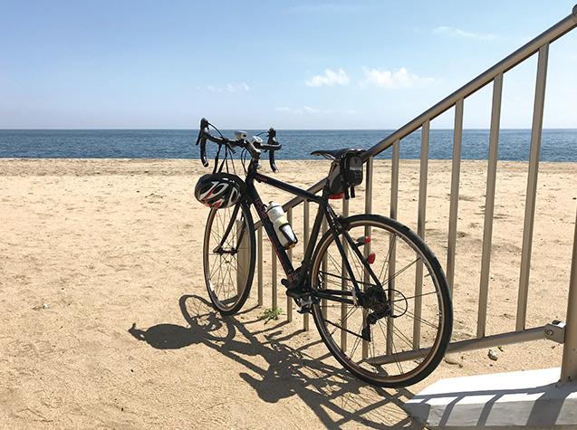 奈良県の自宅から、三重県津市の海岸まで往復した際のスナップ