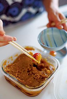 今年初挑戦した味噌梅