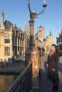 研修で訪れたベルギーでの一枚
