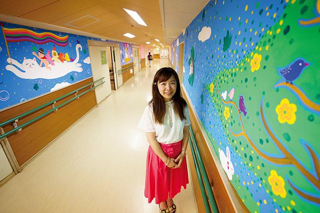半年かけて描いた十全ユリノキ病院の「ユリノキ遊歩道」