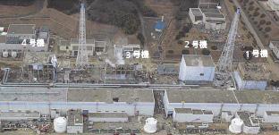 事故直後の福島第一原発の惨状。1〜3号機がメルトダウン(炉心溶融)した